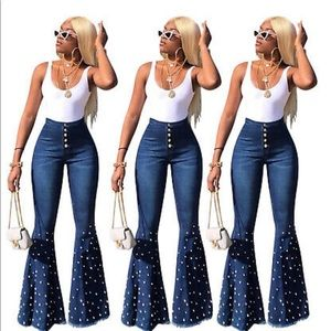 Rhinestone Flare Denim Jeans